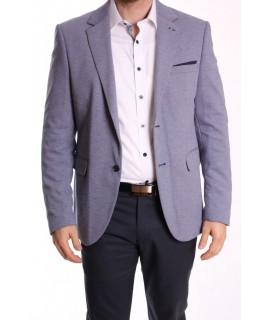 Pánske športovo-elegantné sako MODEL 3365 SLIM FIT - bielo-modré