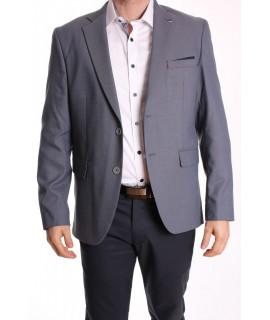 Pánske športovo-elegantné sako MODEL 3150 SLIM FIT - tmavomodro-sivé