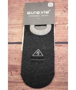 Pánske bavlnené neviditeľné ponožky (FDD6197) - antracit
