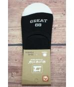 Pánske bavlnené neviditeľné ponožky (FDD519) - čierne