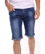 Pánske elastické krátke riflové nohavice NEWSKY DN815 - modré