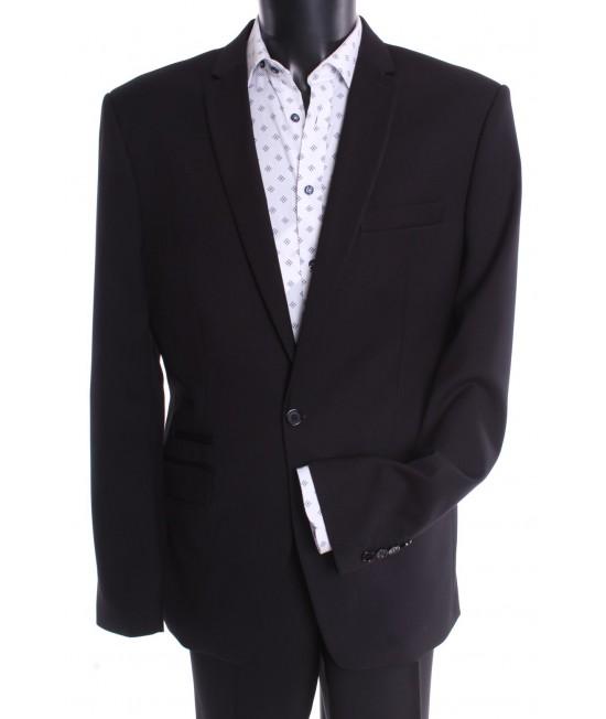 Pánsky oblek SYLWETKA B. (v. 182 cm) čierny