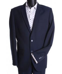 Pánsky oblek ŽABÁR - SLIM FIT (v. 176 cm) - čierno-modrý