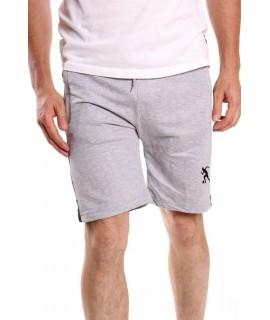 Pánske bavlnené krátke nohavice SUPER GLR. SPORTWEAR - bledosivé s pásmi