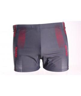 Pánske plavky (416A) - červeno-sivé