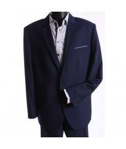 Pánsky oblek DINO SYLWETKA-B. (v. 188 cm) - tmavomodrý