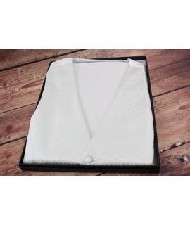 Pánska vesta v darčekovom balení (WD-209) - biela