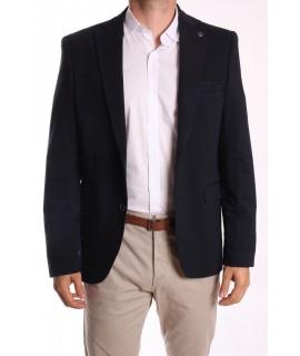 Pánske športovo-elegantné sako MODEL 3115 SLIM FIT - tmavomodré