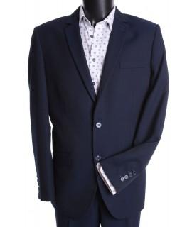 Pánsky oblek LUCJANO-PÓL SLIM (v. 182 cm) - tmavomodrý