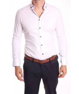 Pánska elastická košeľa ENZO 3163 - biela