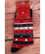 Vianočné bavlnené ponožky (SF6697) - vianočné vzory