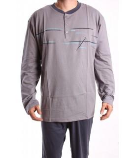 Pánske pyžamo 12043 DEVELOP - sivé