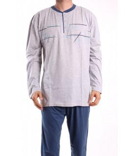 Pánske pyžamo 12043 DEVELOP - bledosivé