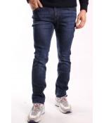 Pánske elastické rifľové nohavice NEWSKY (X19812) - modré