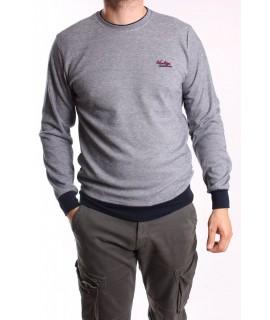 Pánsky pulóver MARCOSTAR (OM203) - sivý
