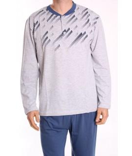Pánske pyžamo DEVELOP 12032 - bledosivé
