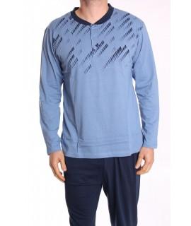 Pánske pyžamo DEVELOP 12032 - modré