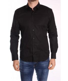 Pánska elastická košeľa GOLD MILANO - čierna