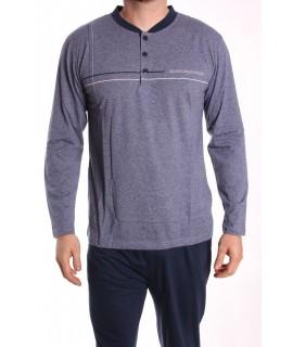 Pánske pyžamo DEVELOP (12034) - sivo-modré