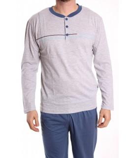 Pánske pyžamo DEVELOP (12034) - bledosivé