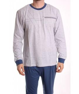 Pánske pyžamo DEVELOP (12040) - bledosivé