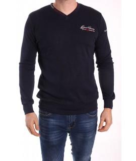 Pánske bavlnené tričko ELVIS SPORT (477) - tmavomodré