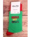 """Vianočné ponožky (SF6698) """"Jingle my bells"""" - zelené"""