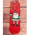 Vianočné bavlnené ponožky (SNP6678) - Mikuláš - červené