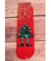 Vianočné bavlnené ponožky (SNP6678) - Stromček - červené