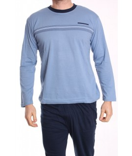 Pánske pyžamo DEVELOP (1876) - sivo-modré