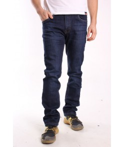 Pánske elastické zateplené rifľové nohavice NEWSKY (XF863) - modré
