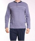 Pánske pyžamo DEVELOP 12053 - sivo-modré