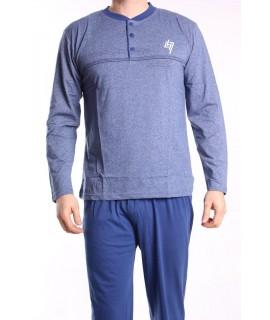 Pánske pyžamo DEVELOP 12033 - modré