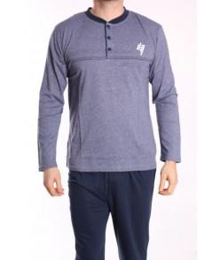 Pánske pyžamo DEVELOP 12033 - sivo-modré