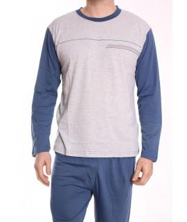 Pánske pyžamo DEVELOP 1875 - bledosivé