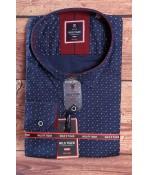 Pánska elastická košeľa WILD TIGER (3032) - modrá vzorovaná