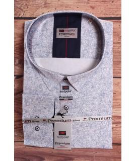 Pánska elastická košeľa PREMIUM SILVER (3153) - biela vzorovaná