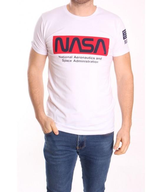 Pánske tričko s krátkym rukávom ELVIS SPORT (719) NASA - biele