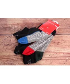 Pánske členkové ponožky KAPPA (311CK3W) - čierne (3ks)