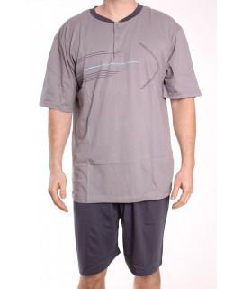 Pánske letné pyžamo DEVELOP 1015 - sivé