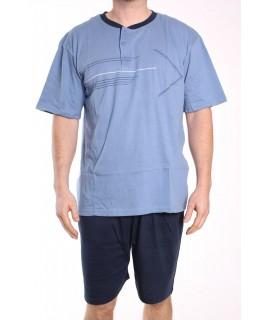 Pánske letné pyžamo DEVELOP 1015 - modré