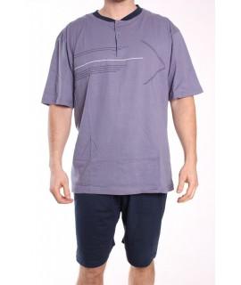 Pánske letné pyžamo DEVELOP 1015 - sivo-modré