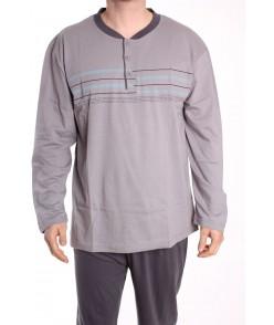 Pánske pyžamo DEVELOP 1879 - sivé