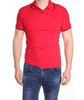 Pánska polokošeľa s krátkym rukávom ELVIS SPORT (412) - červená