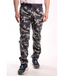 Pánske ARMY maskáčové nohavice s vreckami LOSHAN (H8103-7 A) - zelené