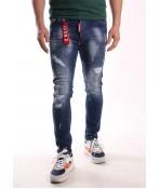 Pánske elastické rifľové nohavice ICON2 - modré