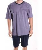 Pánske letné pyžamo DEVELOP 1016 - rifľovo-modré