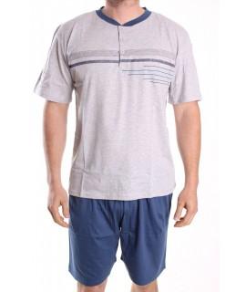 Pánske letné pyžamo DEVELOP 1019 - bledosivé