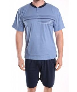 Pánske letné pyžamo DEVELOP 1019 - modré