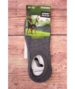 Pánske neviditeľné ponožky AURA.VIA (FDDS06) - antracitové